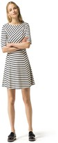 Tommy Hilfiger Crisscross Stripe Ponte Dress