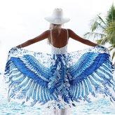 Shovava 100% Silk Hand Painted & Printed wings Shawl,Scarf, Bohemian Beach Sarong