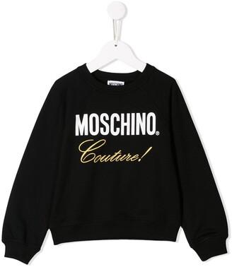 Moschino Kids Couture print sweater