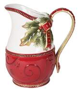 Fitz & Floyd Damask Holiday Motif 54 oz. Pitcher