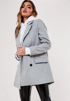 Missguided Oversized Boyfriend Blazer Coat
