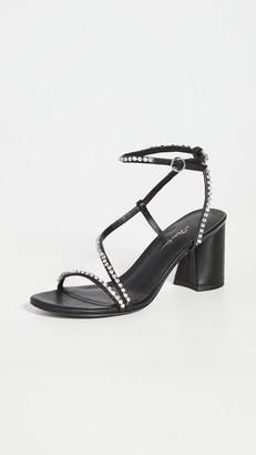 3.1 Phillip Lim Drum Crystal Ankle Strap Sandals
