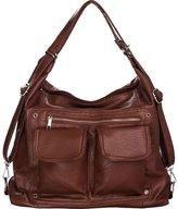 Laurel and Sunset Skool Sak Large Backpack-Convertible Hobo Handbags