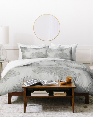 Deny Designs Iveta Abolina Beach Day Gray Duvet Cover Set