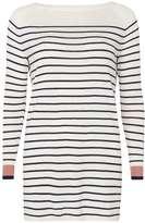 Vila **Vila Stripe Long Sleeve Tunic Top