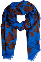 Neptune Blue-Multi Onyx Floral Scarf