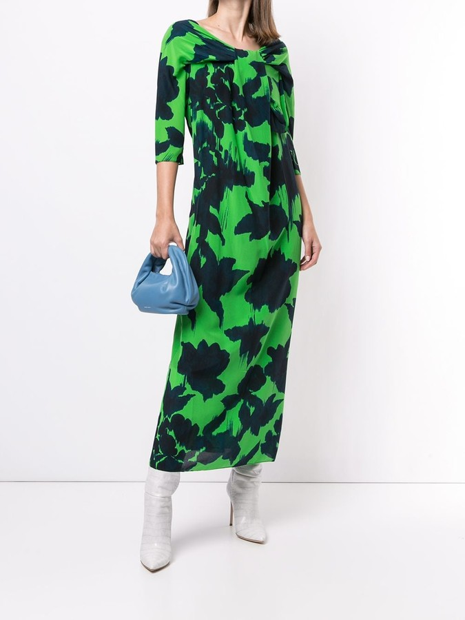 Thumbnail for your product : DELPOZO Abstract-Print Silk Dress
