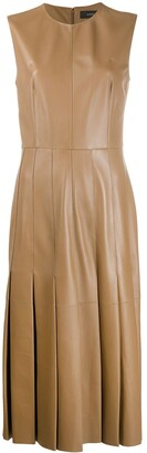Joseph Pleated Leather Dress