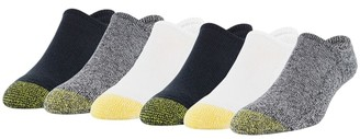 Gold Toe Davenport Big & Tall No-Show Socks 6-Pack