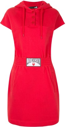 Love Moschino Boxing hooded dress