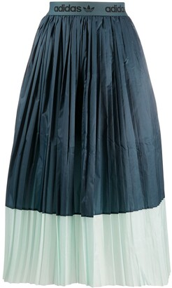adidas Two-Tone Pleated Skirt