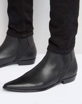 Religion Leather Chelsea Boots