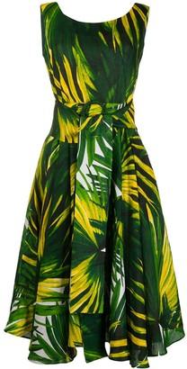 Samantha Sung Aster leaf print dress