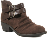 Soda Sunglasses Chocolate Buckle Verity Ankle Boot