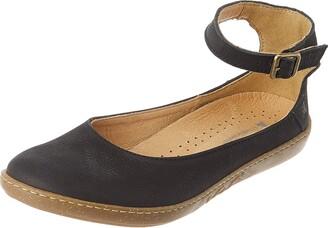 El Naturalista Women's Coral Ankle Strap Ballet Flats