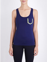 Monreal London Essential contrast-pocket jersey vest top