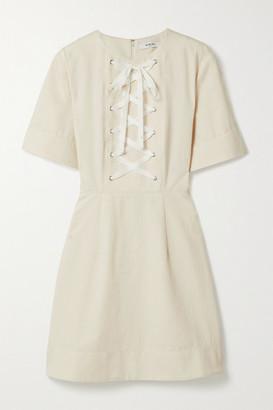 Marysia Swim Proti Lace-up Cotton-canvas Mini Dress - Cream