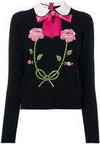 Gucci embroidered jumper - women - Cashmere/Wool - M