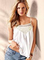 Victoria's Secret Cotton Crochet-trim Tank