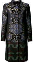 Etro printed single breasted coat