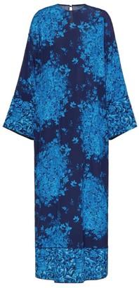 Valentino Printed Crepe De Chine Maxi Dress