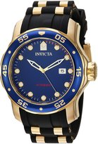 Invicta Men's 'Pro Diver' Quartz Stainless Steel and Polyurethane Casual Watch, Color:Black (Model: 23969)