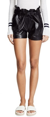 David Lerner Women's Paperbag Waist Belted Short