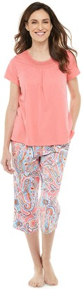 Croft & Barrow Petite Sleep Tee & Pajama Capri Set