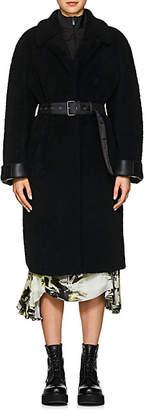 Prada Women's Belted Shearling Coat - Black