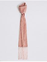 M&S Collection Velvet Skinny Tassel Scarf