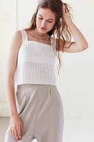 Cooperative Gingham Square-Neck Tank Top