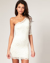 ASOS Lace One Sleeve Body-Conscious Dress