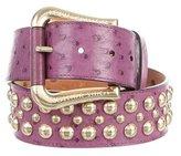Louis Vuitton Ostrich Rivet Belt