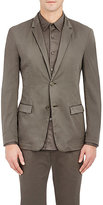 Theory MEN'S SIMONS GD TWO-BUTTON SPORTCOAT-DARK GREEN SIZE 42