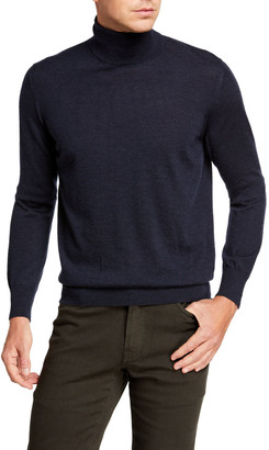 Brioni Men's Solid Cashmere Turtleneck Sweater
