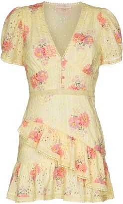 LoveShackFancy Bea broderie anglaise floral-print dress