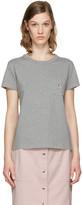 MAISON KITSUNÉ Grey Fox Patch T-Shirt