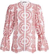 Alexander McQueen Broderie-anglaise cotton blouse