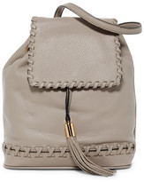 Milly Astor Whipstitch Leather Backpack