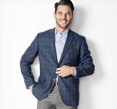 Johnston & Murphy Lightweight Wool Windowpane Blazer