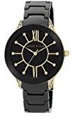 Anne Klein Women's AK/1672BKGB Swarovski Crystal-Studded Black Watch with Link Bracelet