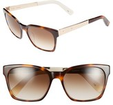 Bobbi Brown Women's 'The Morgan' 55Mm Sunglasses - Tortoise Cream