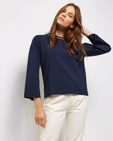 Jaeger Tipped Compact Sweater