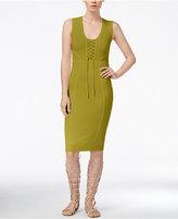 Rachel Roy Lace-Up Knit Dress