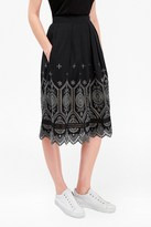 French Connection Josephine Cotton Flared Skirt