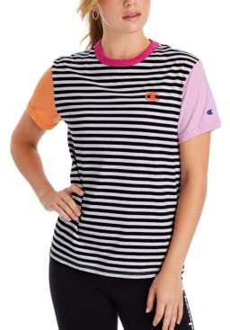 Champion Campus Striped Ringer T-Shirt