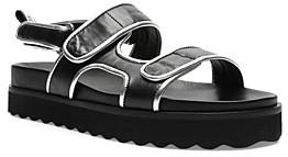 Schutz Women's Zaha Double Strap Leather Sandals