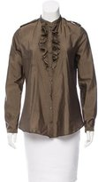 Burberry Ruffled Button-Up Top