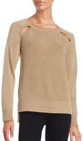 MICHAEL Michael Kors Metallic Cutout Sweater