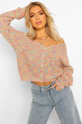 boohoo Tall Rainbow Knitted Cardigan